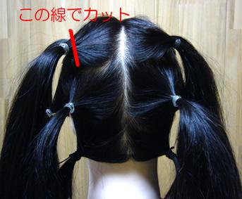 かつらの髪採取方法