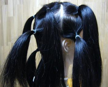 かつらの髪採取方法2