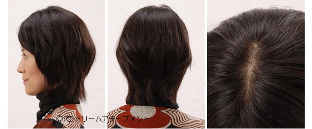 自分の髪(地毛・自毛)で造るかつら(キューティクル付き自然加工)